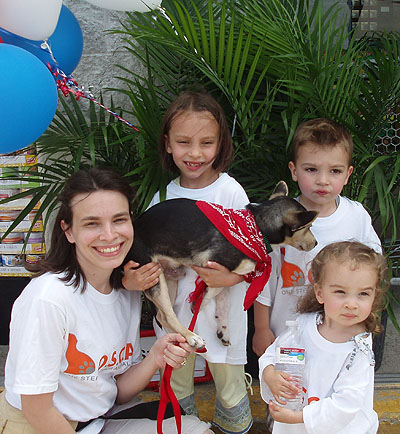 OSCAR's Foster Families enjoy their Foster Dogs!